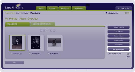 screenshot rename an album