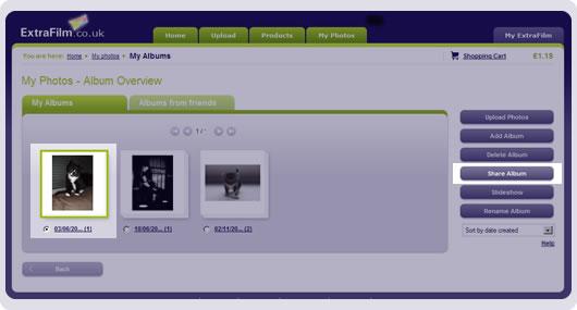screenshot share my album
