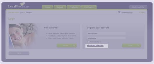 screenshot forgot password