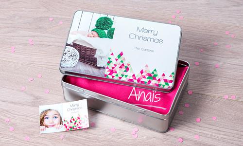 boite personnalisée emballage cadeau avec photo