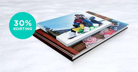 -30% op fotoboek L en XL -30% op fotoboek L en XL