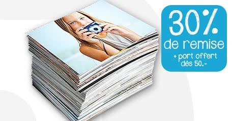 30% sur tous les produits photos + le port gratuit à partir de 50.- 30% sur tous les produits photos + le port gratuit à partir de 50.-