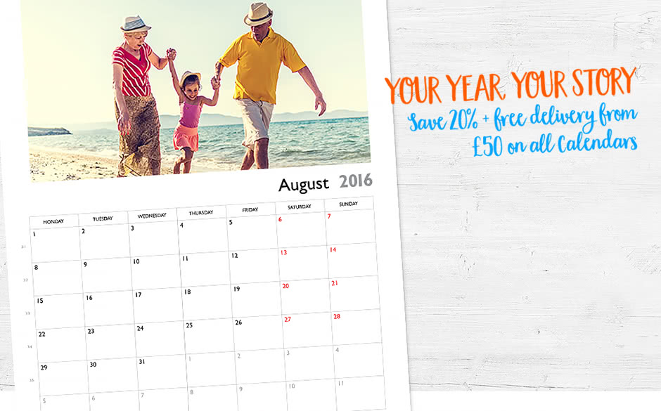 Save 20% + free delivery* on all Calendars Save 20% + free delivery* on all Calendars