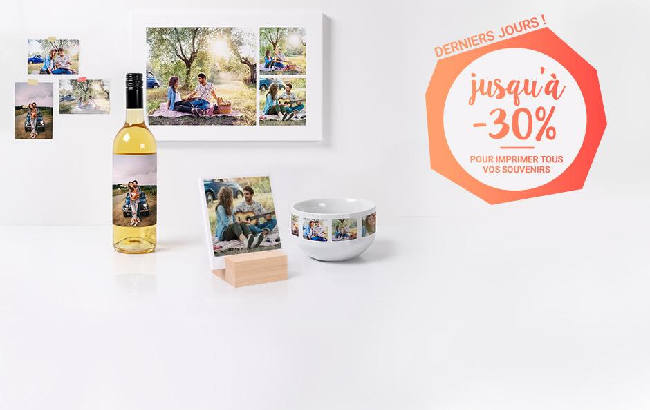 Offre septembre Promotion de septembre, jusqu'à -30% sur tous les produits photo