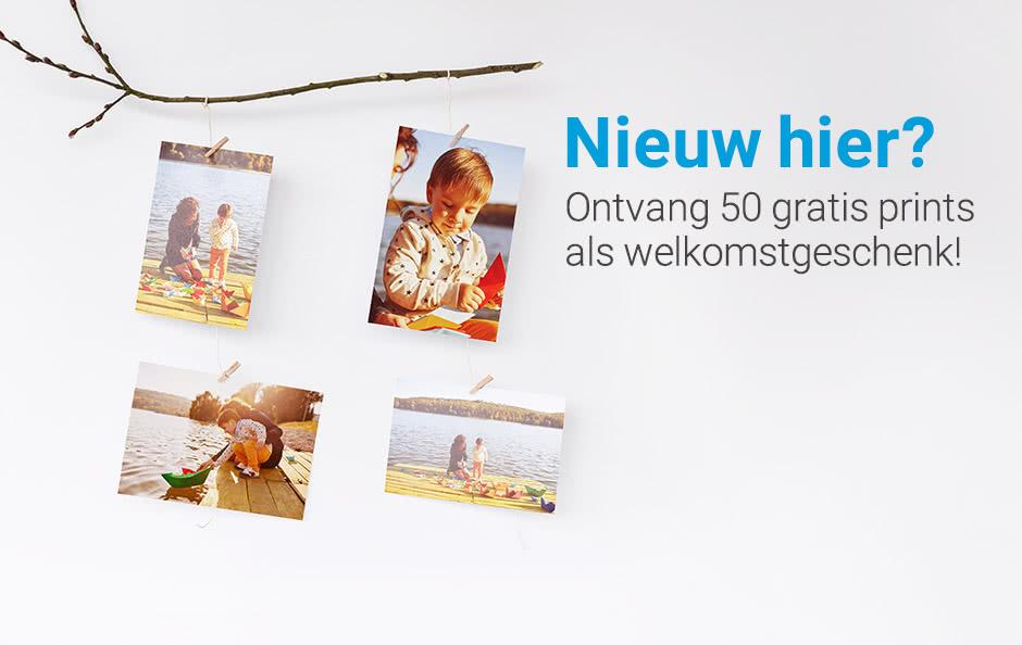 Ontvang 50 gratis prints als welkomstgeschenk! Geniet als nieuwe klant bij smartphoto van 50 gratis prints! De beste kwaliteit voor jouw foto's, makkelijk om te bestellen en supersnel thuis geleverd! Je mooiste foto's goedkoop, mooi en en kwalitatief afdrukken doe je bij smartphoto!