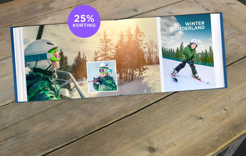 25% korting op fotoboek XL 25% korting op fotoboek XL