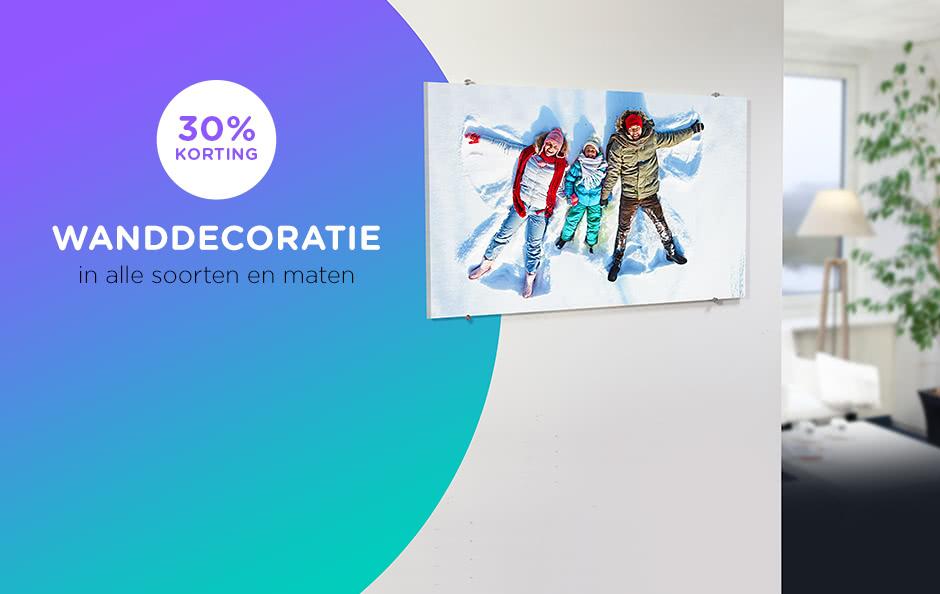 30% korting op alle wanddecoratie 30% korting op alle wanddecoratie