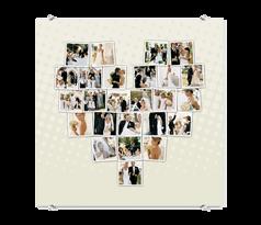 Foto op plexi - Hartvormige collage