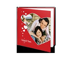 Photo Book L Square - Red Hearts