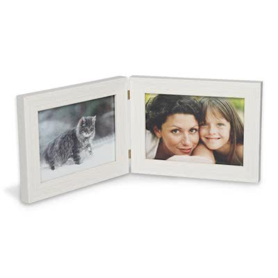 Double Frame 10 x 15 White