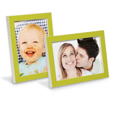 Frame 10 x 15 Green with White