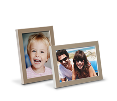 Fotolijst 10 x 15 taupe en wit