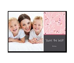 Fotokort - Mom Blossom Pink