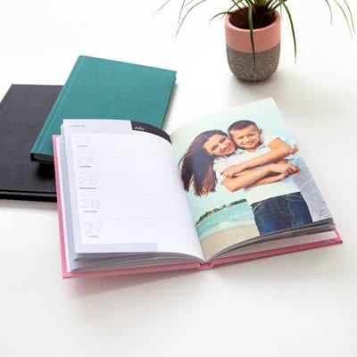 Kalenderbok Deluxe Blågrønn