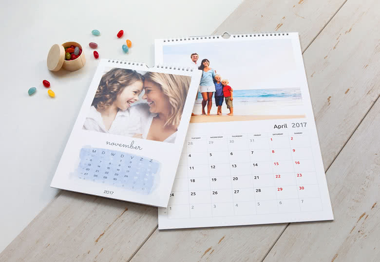 Personalised Wall Calendars  Just Add Photos  Smartphoto Uk