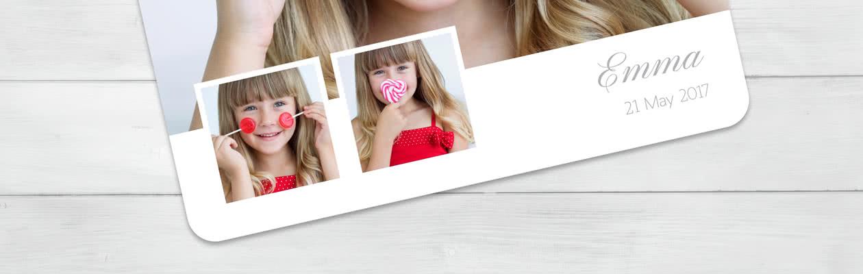 Lag et annerledes Doble Fotokort med runde hjørner