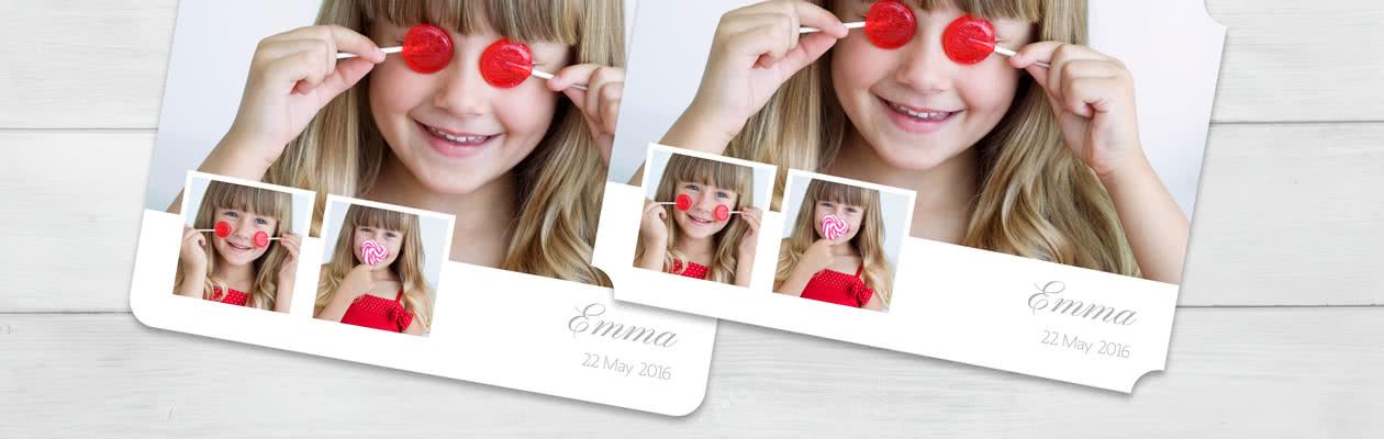 Gestalte deine Foto-Grusskarte mit gerundeten oder invertierten Ecken