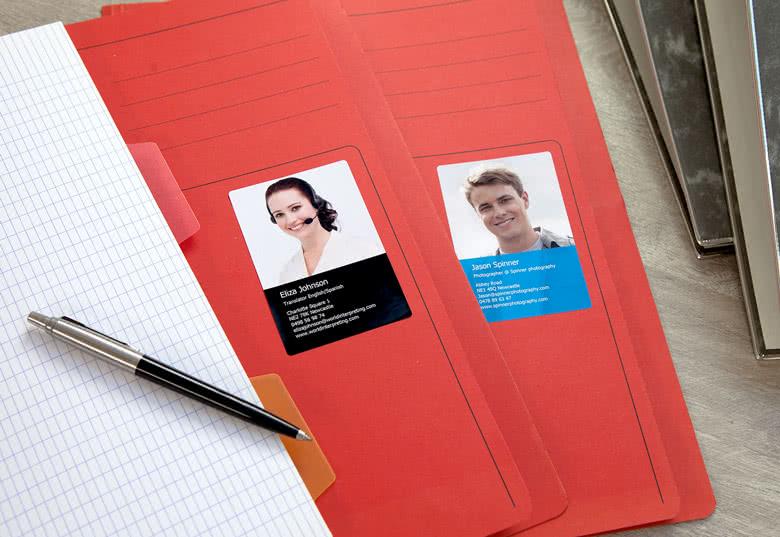 Maak Visitekaartjes stickers