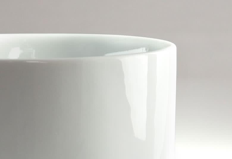 Frukostskål av 100% vit keramik