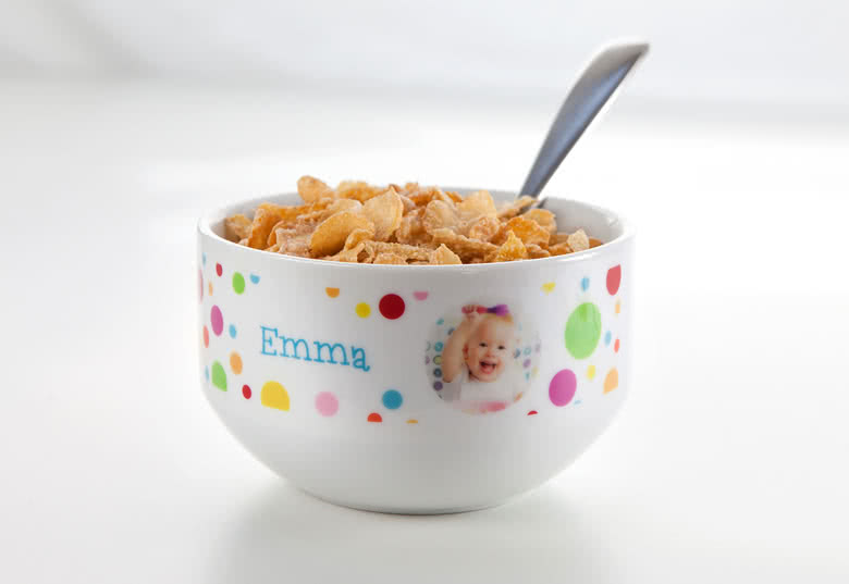 Personalised Cereal Bowls Smartphoto UK