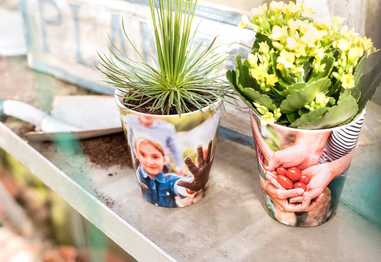 Blumentopf mit eigenem foto gestalten und drucken for Blumentopf gestalten
