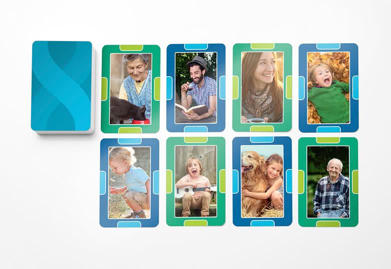 Jeu de cartes Puissance 4 personnalisé