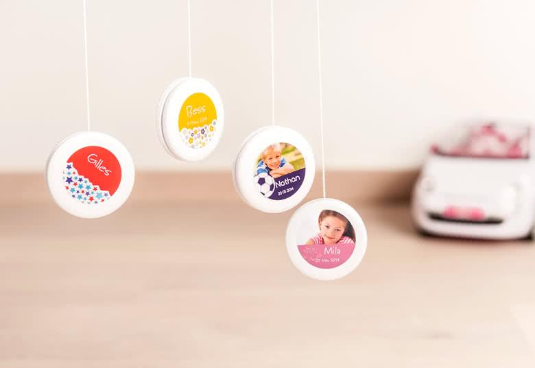 Maak Extra stickers voor snoepdoosjes