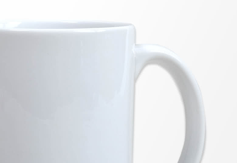 Detail view of the mug