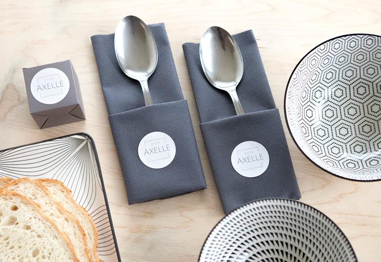 Maak stickers voor servetten