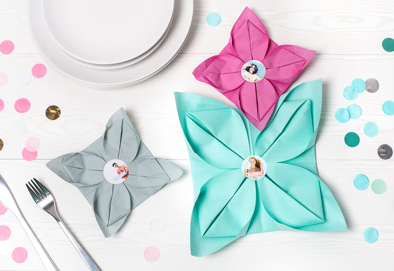 Make napkin stickers