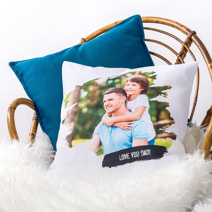 coussin personnalis avec photo et texte. Black Bedroom Furniture Sets. Home Design Ideas