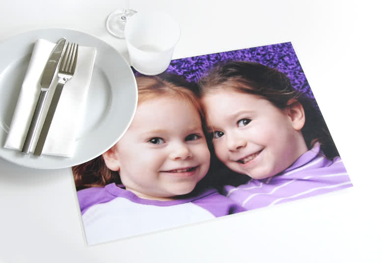 Id e cadeau set de table personnalis avec photos - Set de table plastifie ...