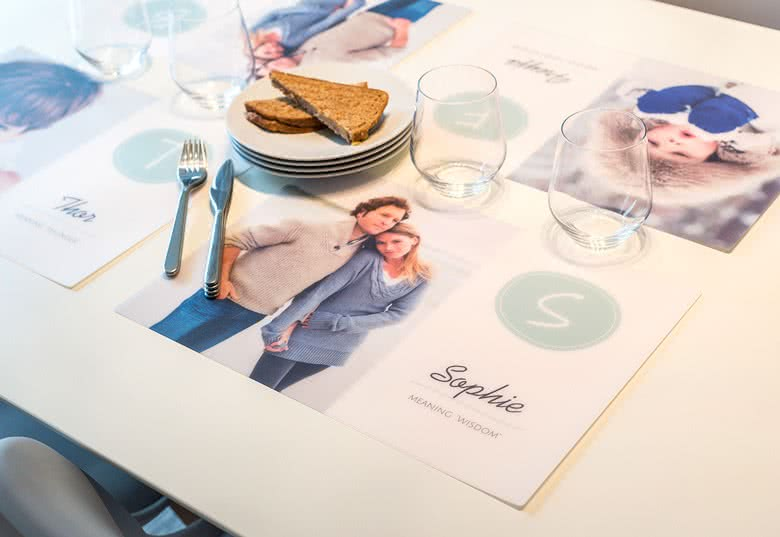 Platzsets Selbst Gestalten tischset aus plastik mit foto abwaschbar und robust