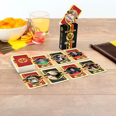Maak Rode Duivels-speelkaarten