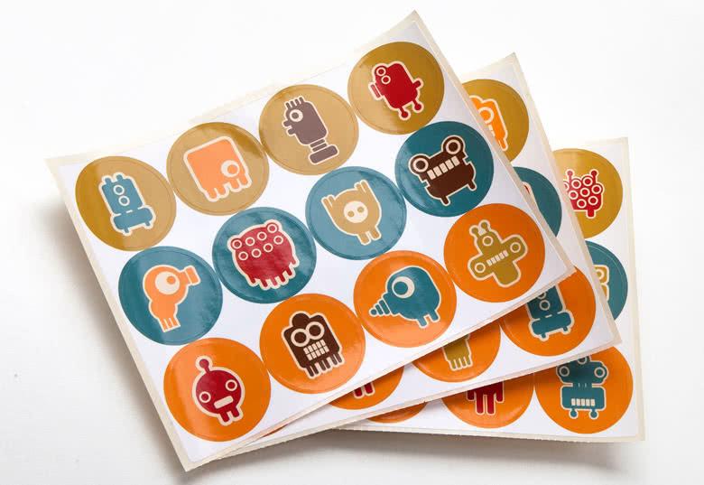 Inclusief 36 glanzende papieren stickers
