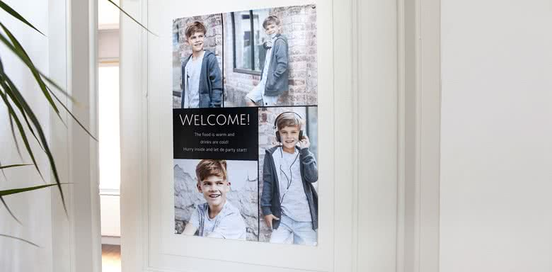 Create a Welcome poster