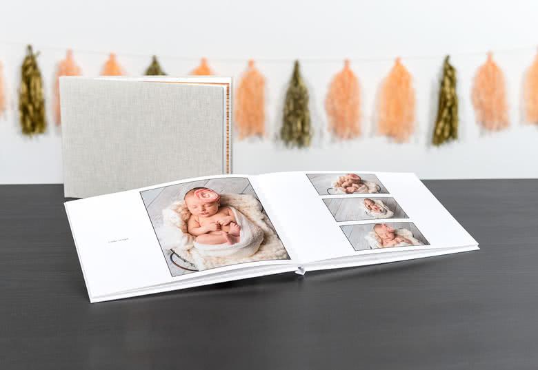 Fotoboek Large liggend - harde linnen kaft
