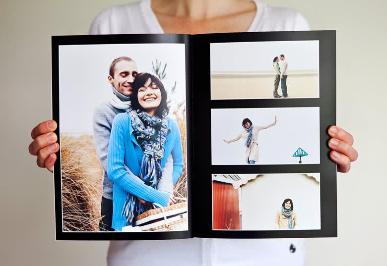 Fotoboek L staand - zachte fotokaft