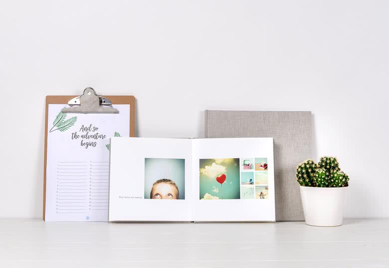 Fotoboek Large vierkant - harde linnen kaft