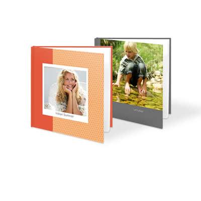 Livre photo L carré - couverture rigide personnalisée