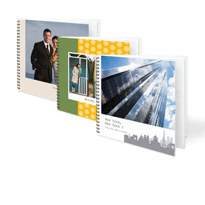 Livre photo L carré - couverture personnalisée à spirales