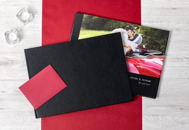 Fotoboek XL liggend - harde lederen kaft