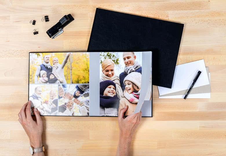 Fotoboek XL vierkant - harde lederen kaft