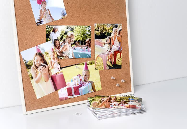 Fotoframkallning på standard fotopapper med blank yta