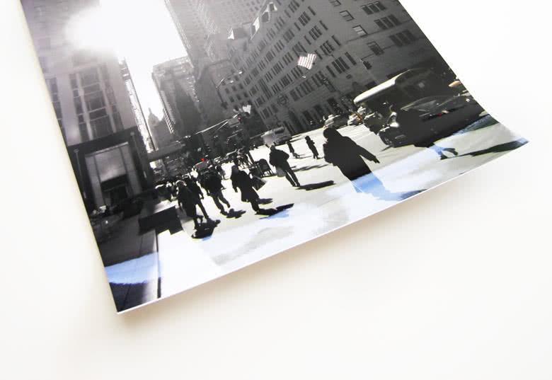 Tryckt på fotopapper av hög kvalitet
