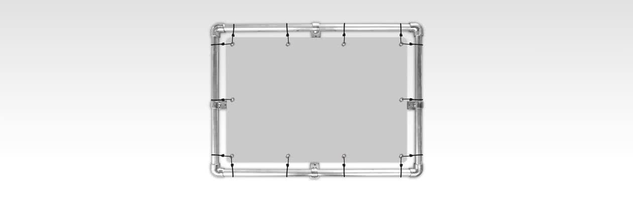 Hang je tuinposter op met een luxe aluminium frame