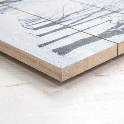 Photo sur planches en bois