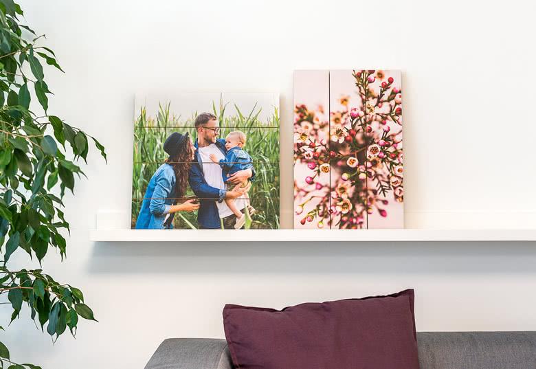 Maak een Foto op houten planken