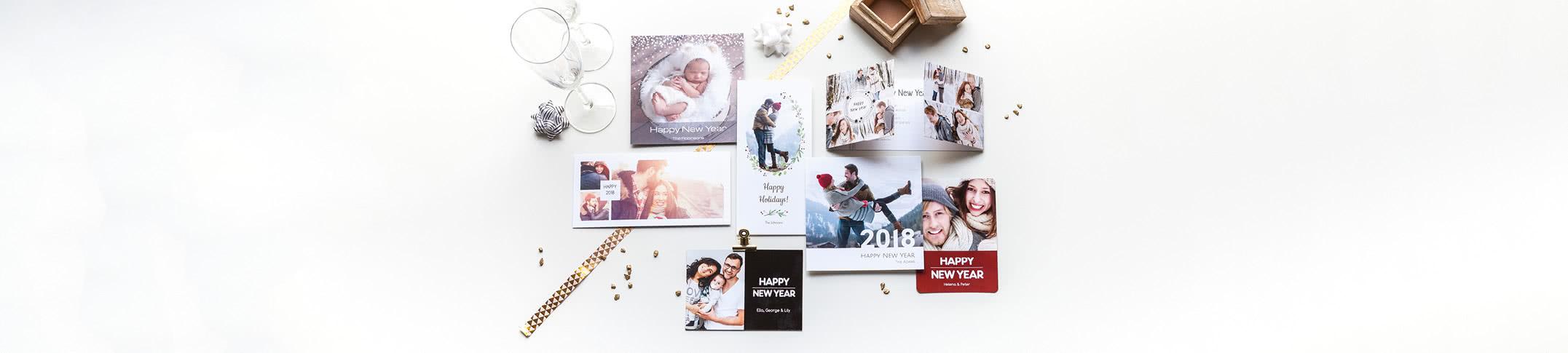 Gepersonaliseerde nieuwjaarskaarten maken