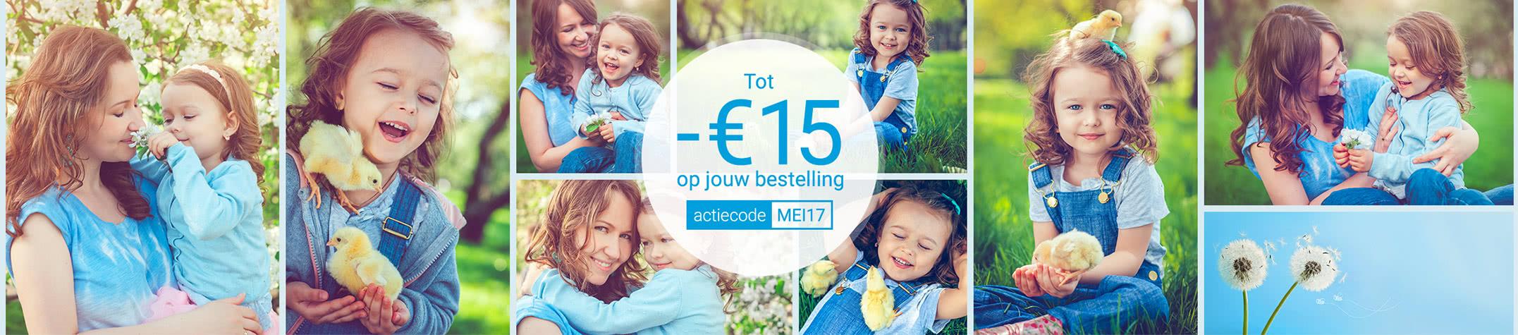 Actie van de maand - Tot €15 korting